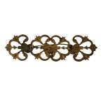 Late Victorian gilt and paste large bar brooch