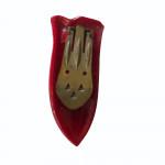 1940's red Bakelite dress clip