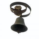 Antique wrought iron and brass shop bell