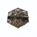 Edwardian pierced silver brooch, circa 1910