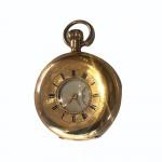 J W Benson 9ct gold half hunter pocket watch, 1920