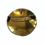 Silver gilt niello work brooch/pendant
