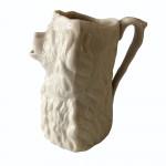 Circa 1800 salt-glazed jug in the form of a dog. AF