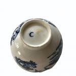 A rare, early Worcester porcelain Chinese design tea bowl. Circa 1760