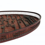 Chinese oval red lacquered gallery tray, circa 1790