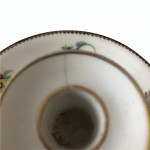 Small early 19th century porcelain chamber stick circa 1820
