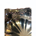 Silver bonbon dish with pierced border, Birmingham 1913 hallmark.