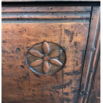 A rare Plantagenet chest with original lock and hinges, circa 1480.