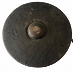An 18th century Chinese bronze temple gong.