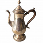 An 18th century George III old Sheffield plate coffee pot of simple form,  circa 1770.