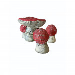 Early 20th century composition gnome and mushrooms, circa 1900