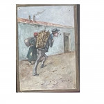 Set of 18 late 19th century water-colour cartoons by F Villetti