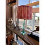 1930's Murano green glass table lamp