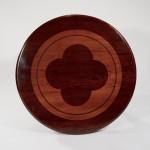 A circular mahogany centre table
