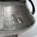 An Art Nouveau twin-handled pewter bowl