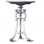 A finely cast Napoleon III bronze standard lamp