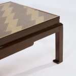 A rectangular Showa period lacquered coffee table