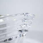 A Rogaska lead crystal stepped ovoid bowl