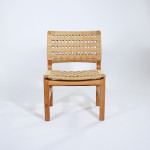 An Oregan pine and paper cord side chair, probably by Berndt Petersen