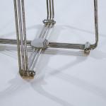 A die-cast aluminium and chrome stool by Alpax