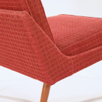 An upholstered side chair by Knolls AB