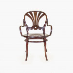 A model 322 steambent and stained birch desk chair by Thonet