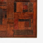 An enormous patchwork leather panel