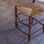 A Provencal walnut ladderback chair