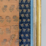 A fine 18th century Persian wild silk brocade panel