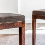A pair of rosewood veneered side chairs by Serge Chermayeff for Waring & Gillow