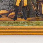 """A George III reverse glass painting entitled """"Pheasant Shooting"""""""