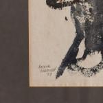 """Fisherman Working No. 1"" - watercolour on paper by Arthur Freeman (1927-1992)"