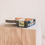 A rectangular painted box
