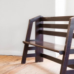 An unusual Arts & Crafts stained oak bench