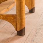 A Jugendstil birch occasional table