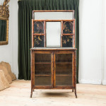 A bamboo and lacquered Chinoiserie cabinet