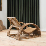 A large wicker chair