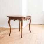 A provincial Louis XV oak side table