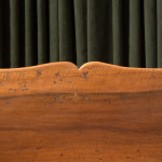 A small walnut bench