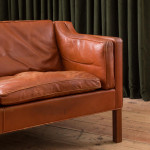 """A model """"2213"""" leather sofa by Borge Mogensen (1914 - 1972)"""
