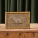 A 19th century cross stitch sheep bonbonniere