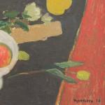 Alberto Morrocco OBE RSW RP RGI (1917-1999), 'Red Pomegranate', oil on board
