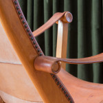 An early stained beech and leather Copenhagen Chair by Mogens Voltelen (1908 - 1995)