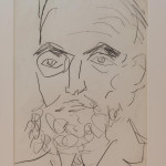 """""""Portrait of a Man"""" - Pencil on paper by Joash Woodrow (1927 - 2006)"""