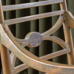 A painted beech Regency style elbow chair