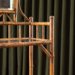 A smoked bamboo three tier etagere