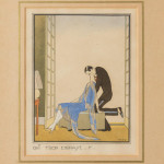 A pair of Art Deco pochoir prints by Ettore Tito (1859 - 1941)