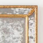 A Regence period rectangular giltwood border glass mirror