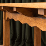 A rectangular oak Arts & Crafts library table in the manner of William Lethaby (1857-1931)