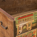 A rare and exceptional Baroque leather studded trunk